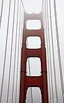 Crossing the Golden Gate Bridge in the Fog (15598196571).jpg