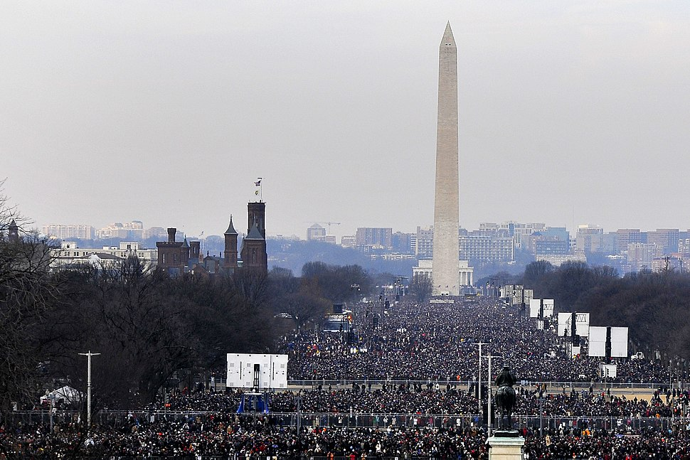 Crowd at National Mall for Obama inauguration 1-20-09 hires 090120-F-6184M-007a