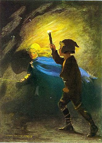Fantasy - Illustration from 1920 edition of George MacDonald's novel The Princess and the Goblin, which is widely considered to be one of the first fantasy novels ever written for adults
