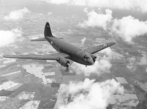 Curtiss C-46 Commando in flight.