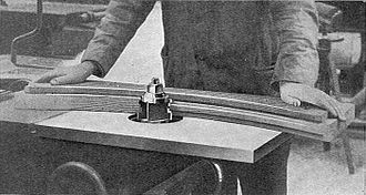 Wood shaper - A wood shaper used in 1925, with obsolete and hazardous flat-sided tooling