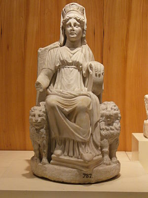Marble statuette of the Cybele from Nicaea in ...