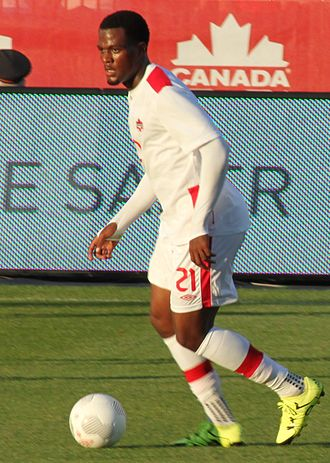 Cyle Larin - Larin playing for Canada at the 2015 CONCACAF Gold Cup