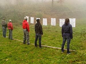 Defensive gun use - Image: Czech self defense training pic 01