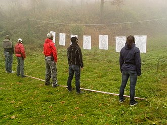 Defensive gun use - Image: Czech self defense training pic 01