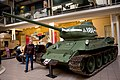 Czechoslovak-produced T-34-85 tank at the Imperial War Museum London 13.jpg