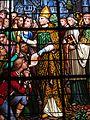 Détail vitrail nord chœur église Saint-Ouen du Tronquay.JPG