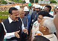 D.V. Sadananda Gowda inspecting the construction site of North Eastern Indira Gandhi Regional Institute of Health and Medical Sciences (NEIGRIHMS), at Shillong.jpg