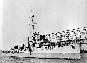Official USCG photo of USS Menges (DE-320), date and location unknown.