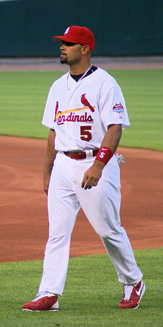 2004 World Series - Albert Pujols, seen here in 2007, hit 46 home runs, then a career-high.