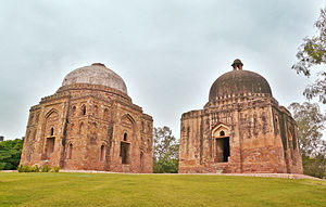 Green Park, Delhi - Dadi-Poti ka Gumbad (mausoleums), at the edge of Green park, close to the Hauz Khas Complex, Delhi