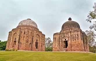 Green Park, Delhi - Dadi-Poti ka Gumbad (mausoleums), at the edge of Green park, close to the Hauz Khas Complex, Delhi