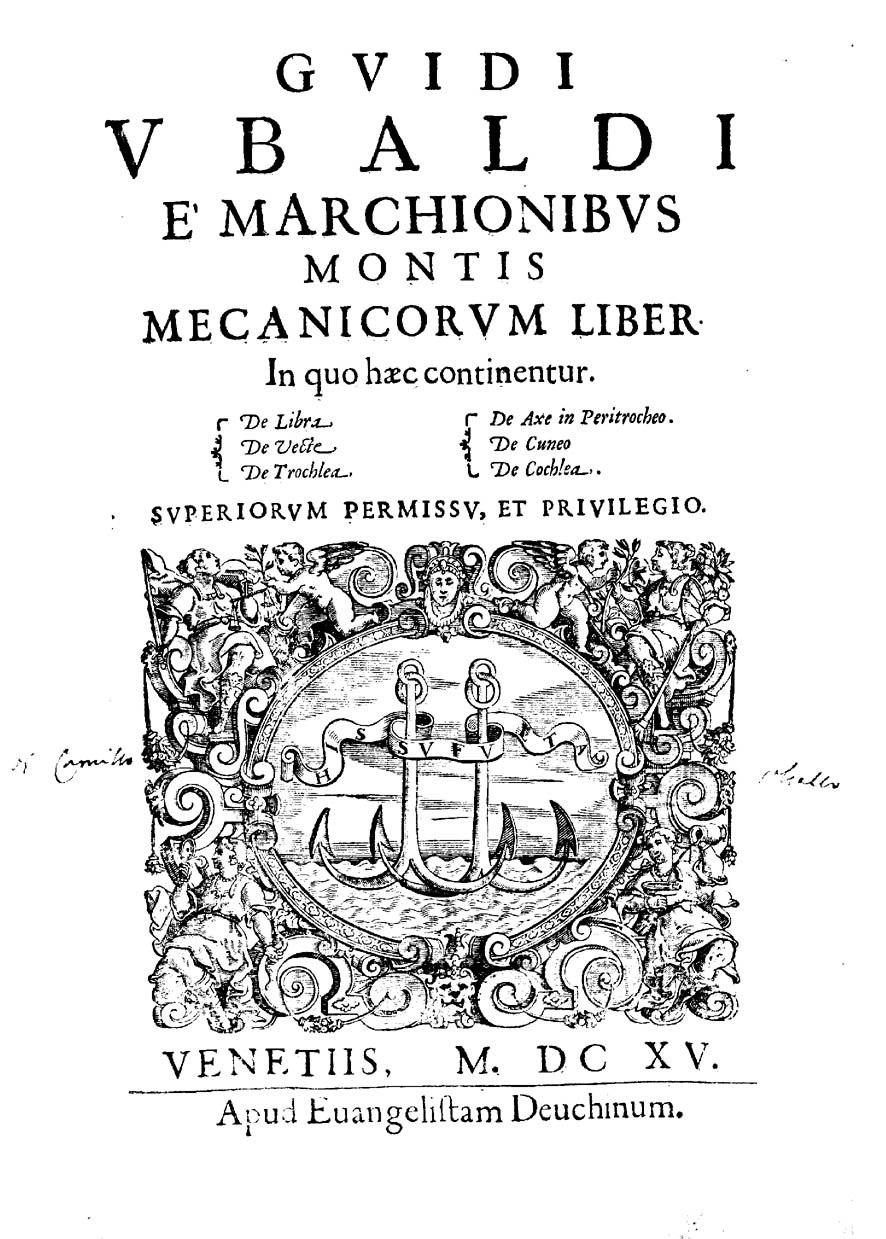 Dal Monte - Mecanicorum liber, 1615 - 188305
