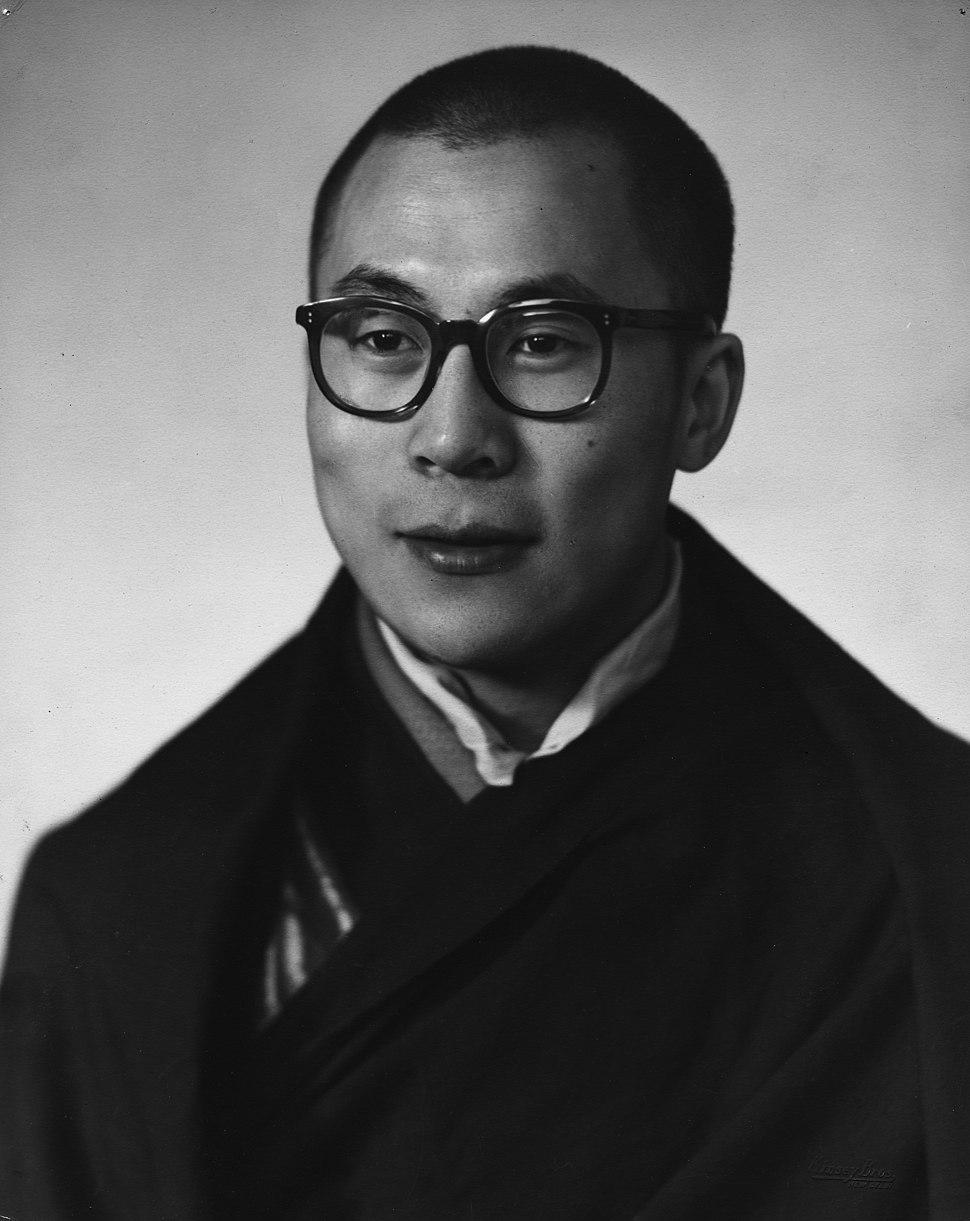 Dalai Lama in 1956 in New Delhi