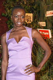 Danai Gurira at a 2013 Walking Dead event