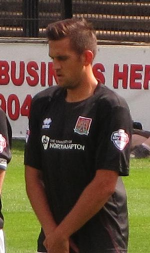 Darren Carter - Carter playing for Northampton Town in 2013