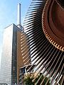 Das Heizkraftwerk Linden der Stadtwerke Hannover AG Turbinenläufer (Detail) der alten Turbine, nördliches Kesselhaus und Leitwarte.jpg