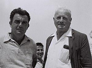 Yehoshua Cohen - Yehoshua Cohen on the left, with David Tovyahu