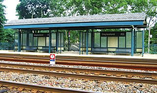 Daylesford station commuter rail station in Berwyn, Pennsylvania