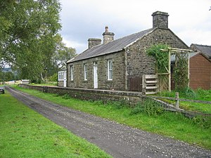 Deadwater railway station - Station building in September 2009