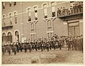 Deadwood. Grand Lodge I.O.O.F. of the Dakotas, resting in front of City Hall after the Grand Parade, May 21, 1890 LCCN99613853.jpg