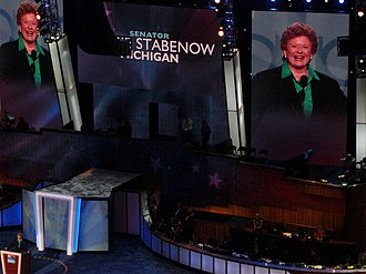 Debbie Stabenow - Stabenow speaks during the second day of the 2008 Democratic National Convention in Denver, Colorado.