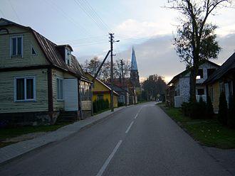 Debeikiai - Image: Debeikiai, gatvė
