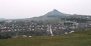 Dedoplistsqaro - Image: Dedoplis Tskaro and Ilia mountain (G.N. 2009)