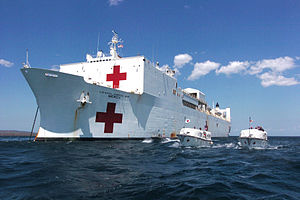Humanitarian response to Typhoon Haiyan - Hospital ship USNS ''Mercy''