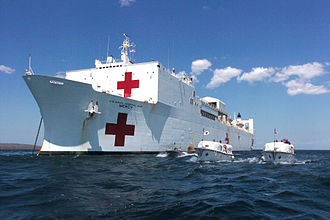 Humanitarian response to Typhoon Haiyan - Hospital ship USNS ''Mercy''