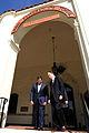 Defense.gov News Photo 110823-F-RG147-582 EF63 - Defense Secretary Leon E. Panetta walks with Daniel T. Oliver, president of the Naval Postgraduate School at Monterey, Calif., on Aug. 23, 2011.jpg
