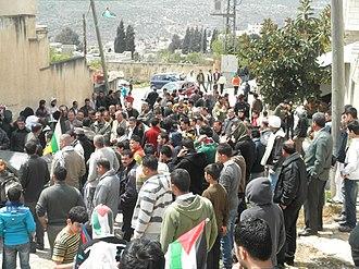 State of Palestine - Demonstration against road block, Kafr Qaddum, March 2012