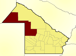 Location of Almirante Brown Department in Chaco Province