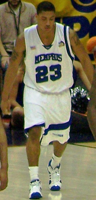 Memphis Tigers men's basketball - Derrick Rose during the 2008 NCAA Tournament