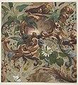 Design for wallpaper featuring shells, waterlilies, and cattails MET DP811319.jpg