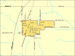 Detailed map of Colony, Kansas
