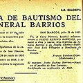Detalle de la Transcripción del Periodico La Gaceta del Acta de Bautismo del General Justo Rufino Barrios y el error del lugar de nacimiento.jpg