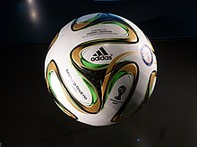 timeless design 99a32 d1431 The Adidas Brazuca Final Rio used in the 2014 FIFA World Cup Final.