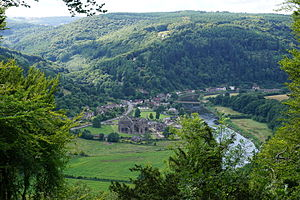 Devil's Pulpit - View of Tintern Abbey from the Devil's Pulpit