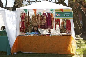 Argentina–India relations - An Indian stall in Buenos Aires in 2010.