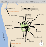 Diagram of Adelaide horse tram routes in 1907.png