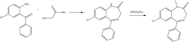 diazepam synthesis