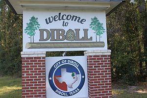 Diboll, Texas - Diboll welcome sign