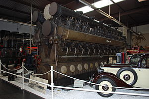 German cruiser Emden - A replacement engine built for Emden, displayed at the Sinsheim Auto & Technik Museum (2011 picture)