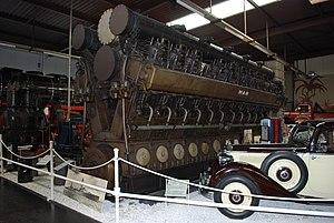 German cruiser Emden - A replacement engine built for Emden, displayed at the Sinsheim Auto & Technik Museum (2011 picture)