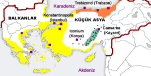 Distribution of Greek dialects in late Byzantine Empire tr.png
