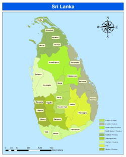 Districts Of Sri Lanka Wikipedia