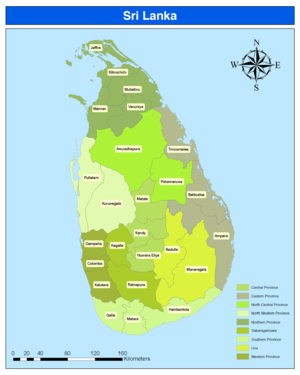 Districts of Sri Lanka - Image: Districts of Sri Lanka