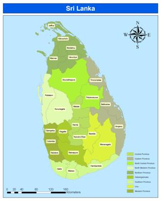 Districts of Sri Lanka - Image: Districts of Sri Lanka