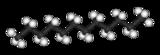 Kugel-Stab-Modell von Dodecan